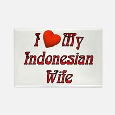 I Love My Indo Wife Rectangle Magnet