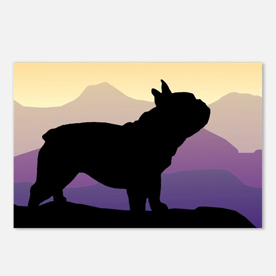 Frenchie Purple Mt. Postcards (Package of 8)