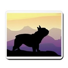 Frenchie Purple Mt. Mousepad