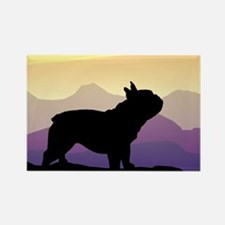 Frenchie Purple Mt. Rectangle Magnet