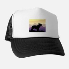 Frenchie Purple Mt. Trucker Hat