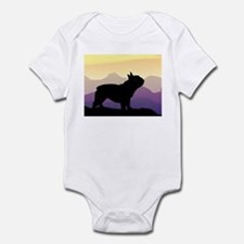 Frenchie Purple Mt. Infant Bodysuit