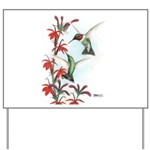 Ruby-throated Hummingbirds Yard Sign