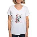 Ruby-throated Hummingbirds Women's V-Neck T-Shirt