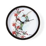 Ruby-throated Hummingbirds Wall Clock