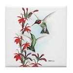 Ruby-throated Hummingbirds Tile Coaster