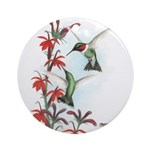 Ruby-throated Hummingbirds Ornament (Round)