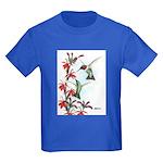 Ruby-throated Hummingbirds Kids Dark T-Shirt