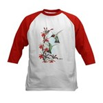 Ruby-throated Hummingbirds Kids Baseball Jersey