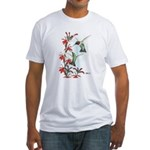 Ruby-throated Hummingbirds Fitted T-Shirt