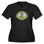 March Field Women's Plus Size V-Neck Dark T-Shirt