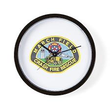 March Field Fire Wall Clock