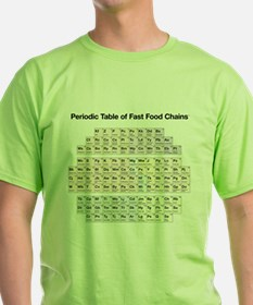 Periodic Table of Fast Food Chains T-Shirt