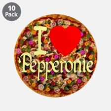 """I (Heart) Pepperonie 3.5"""" Button (10 pack)"""