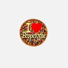 I (Heart) Pepperonie Mini Button