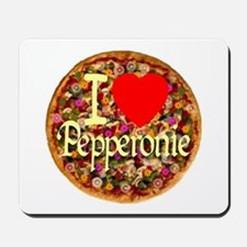 I (Heart) Pepperonie Mousepad