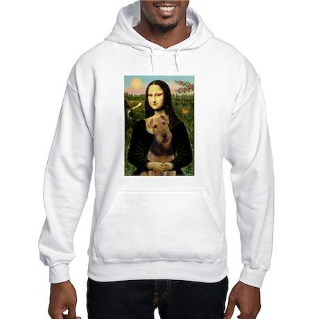Mona Lisa & Airedale Hooded Sweatshirt