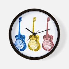 Resonator  - 'The' Blues Guit Wall Clock