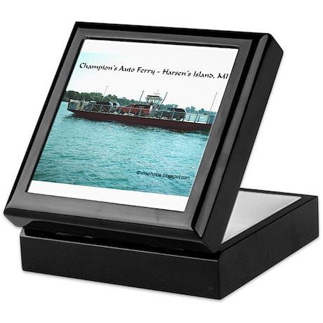 Harsens Island Ferry Keepsake Box
