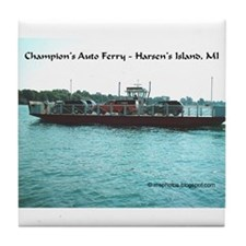 Harsens Island Ferry Tile Coaster