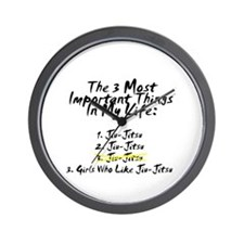 Most Important 3 Things in Life Wall Clock