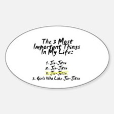 Most Important 3 Things in Life Oval Decal