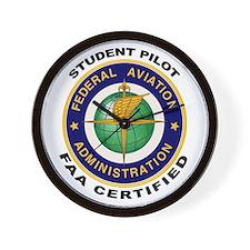 FAA Certified Student Pilot Wall Clock