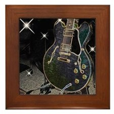 Semi Glow Guitar Framed Tile