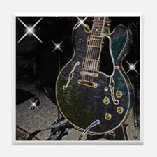 Semi Glow Guitar Tile Coaster