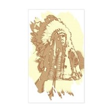 Indian Chief Rectangle Decal