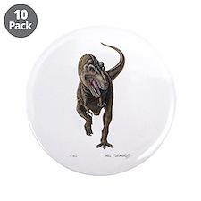 """T-Rex ~ Dinosaur ~ 3.5"""" Button (10 pack)"""