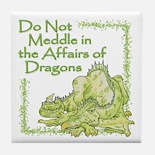 Funny Slay the dragon Tile Coaster