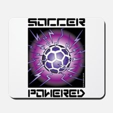 Soccer Powered (Purple) Mousepad