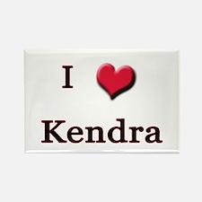 I Love (Heart) Kendra Rectangle Magnet