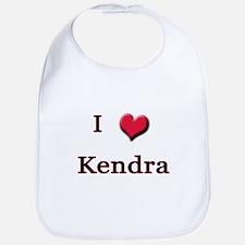 I Love (Heart) Kendra Bib
