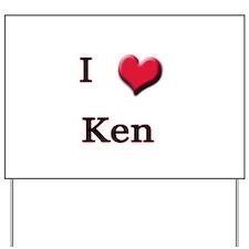 I Love (Heart) Ken Yard Sign