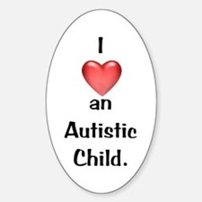 Autistic Child Oval Decal