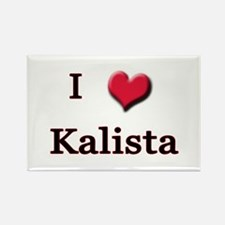 I Love (Heart) Kalista Rectangle Magnet