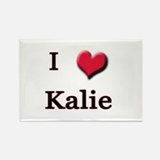 I Love (Heart) Kalie Rectangle Magnet