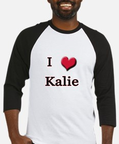 I Love (Heart) Kalie Baseball Jersey