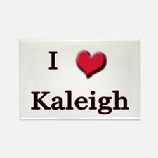 I Love (Heart) Kaleigh Rectangle Magnet
