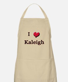 I Love (Heart) Kaleigh BBQ Apron