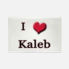 I Love (Heart) Kaleb Rectangle Magnet