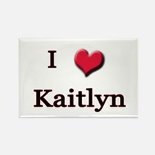 I Love (Heart) Kaitlyn Rectangle Magnet