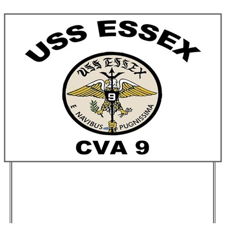 USS Essex CVA-9 Yard Sign