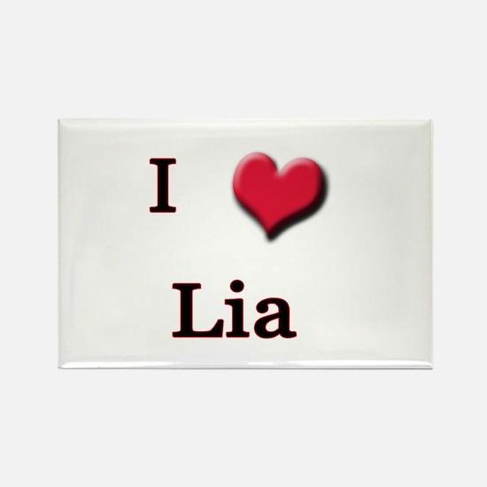 I Love (Heart) Lia Rectangle Magnet