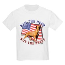 Ban the deed not the breed de T-Shirt
