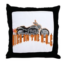 I'm Riding High On The Hog Throw Pillow