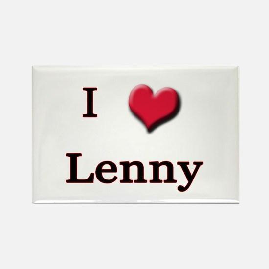 I Love (Heart) Lenny Rectangle Magnet