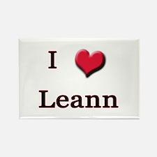 I Love (Heart) Leann Rectangle Magnet